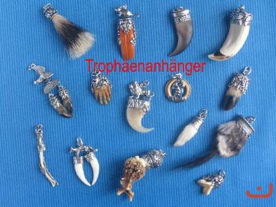 Details zu Anhänger 835 Silber Rehgabler Schariwari Tracht Schmuck Jagd Trophäe